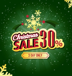 Christmas sale 30 percent typographic background vector