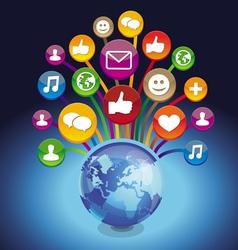 Concept - globe and social media vector