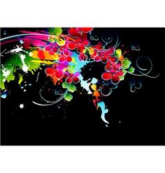 Colorful splatter vector