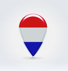 Luxembourg icon point for map vector