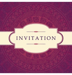Ornate invitation design vector
