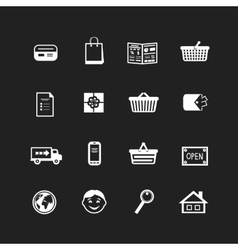 Collection of e-commerce interface pictograms vector