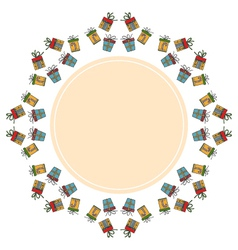Decorative round holiday frame on the background vector