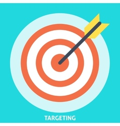 Targeting icon flat vector