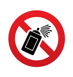 No graffiti spray sign icon aerosol paint symbol vector