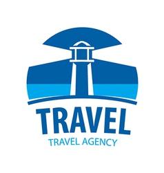 Logo beacon indicating travel vector