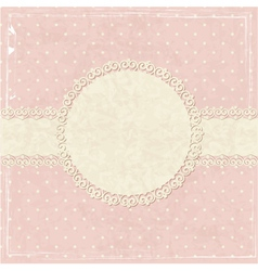 Pink vintage grunge background vector