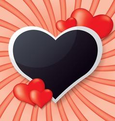 Photo frame whit heart vector