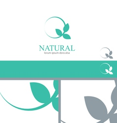 Wellness mint menthol leaves logo concept design vector