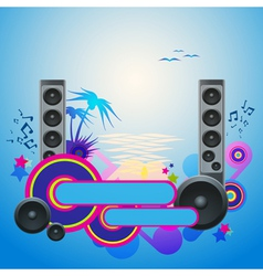 Night disco dance tropical music flyer vector