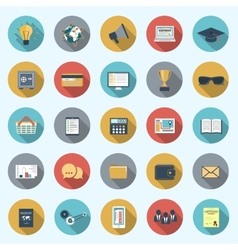 Set of modern icons in flat design vector