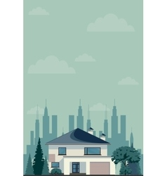 House in spring or summer season vector