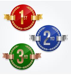 1st 2nd 3rd awards emblems vector