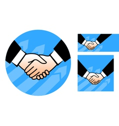 Hand shake conception vector