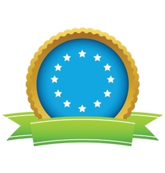 Gold european union logo vector