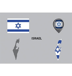 Map of israel and symbol vector