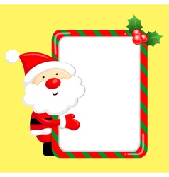 Santa claus mascot the event activity christmas c vector