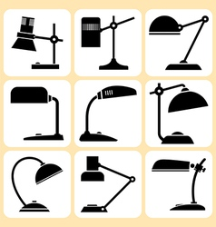 Lamps set vector