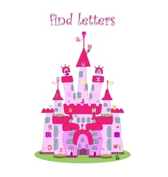 Game for kids find letters vector