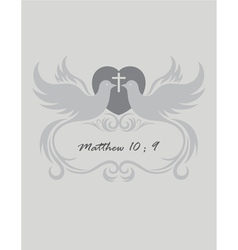 Christian invitation vector
