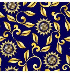 Floral sari pattern vector