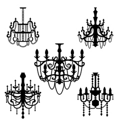 Chandelier set vector