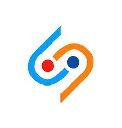 Connection abstract s circle logo vector