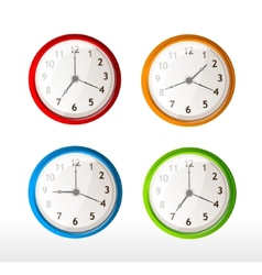 Different color timer icons vector