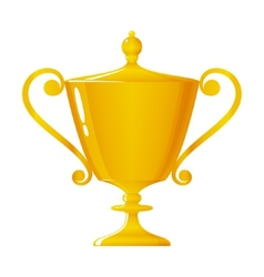 Cup of winner gold trophy cup vector