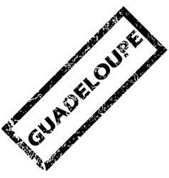 Guadeloupe rubber stamp vector