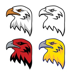 Set of eagle mascot vector
