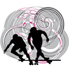 Skater in action vector