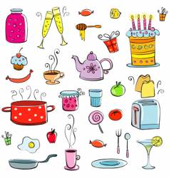 Kitchenware icons vector