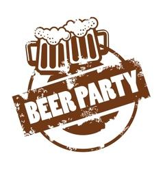Beer stamp vector