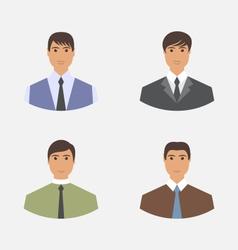Avatar set front portrait office employee vector
