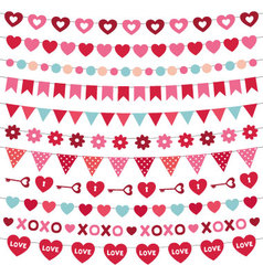Valentines day decoration set vector