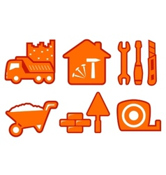 Industrial set with construction icons vector