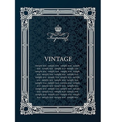 Label frame vintage antique decor ornament vector