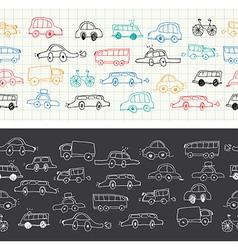 Car banners doodles set vector