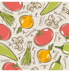 Background with tomato onions pepper vector