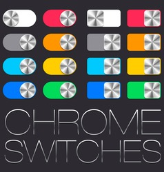 User interface set chrome switches vector