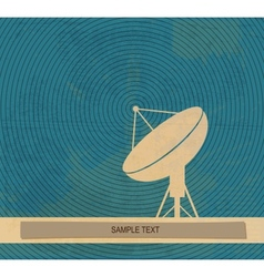 Radar translation satellite dishes antena retro vector