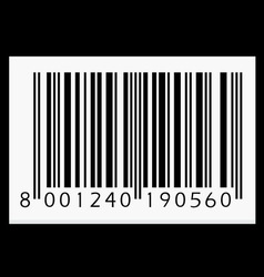 Barcode isolated on black background vector