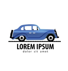 Retro car logo design template transport vector