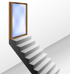 Open door with stairs vector