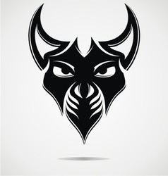 Black evil mask vector