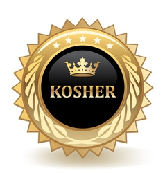 Kosher badge vector