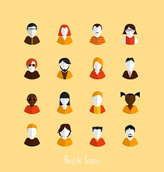 Flat people icons vector