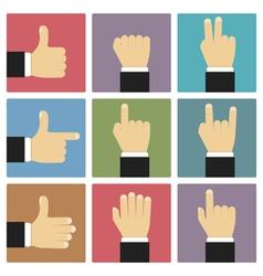Flat hands vector