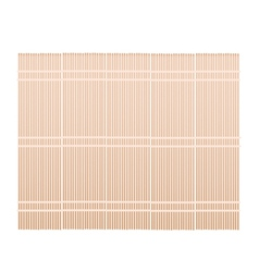 A brown bamboo mat on white background vector